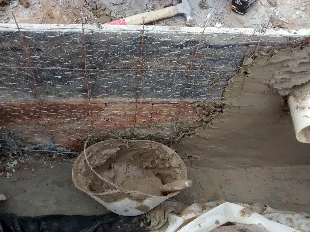 cemento paredes ferrocemento caja filtro aerobio