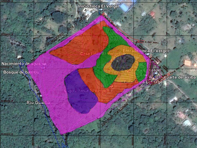 Satélite y plano zonas superpuestos