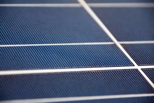 panel solar acercamiento